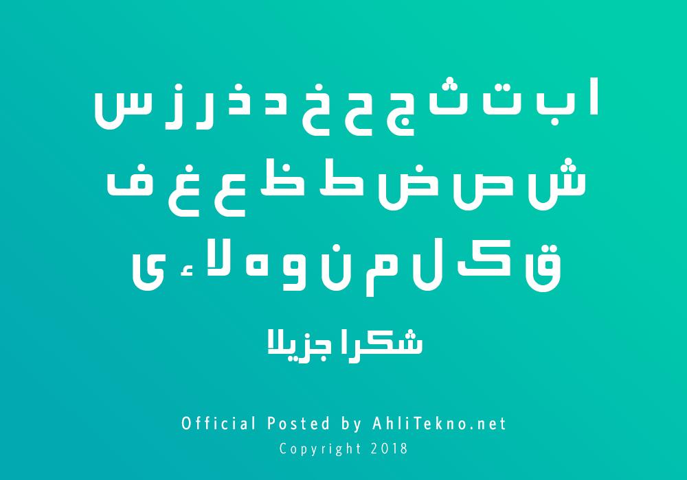 kumpulan font typography arabic keren (B Elham)