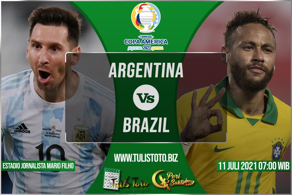 Prediksi Argentina vs Brazil 11 Juli 2021