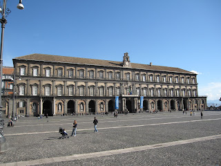 The Palazzo Reale, on the Piazza del Plesbiscito, was  Murat's luxurious home in Naples