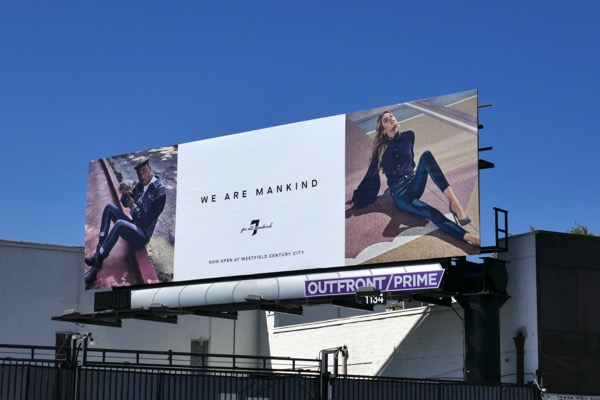 We are mankind Summer 2018 billboard