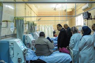 محافظ الإسكندرية يتفقد مستشفى رأس التين العام ، لمتابعة أعمال التطوير التي تتم بها