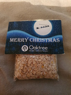 A packet of reindeer food from Oaktree Garden Centre in Bracknell.