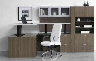 Height Adjustable Desk with Push Button Controls