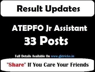 ATEPFO Jr Assistant Result