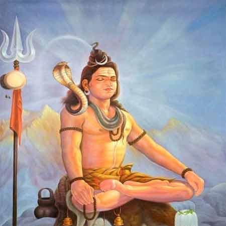 Shiva Burning Madana