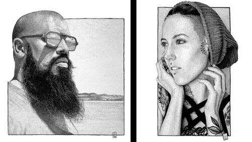 00-Contrasting-Portraits-Sebastien-Drillon-www-designstack-co