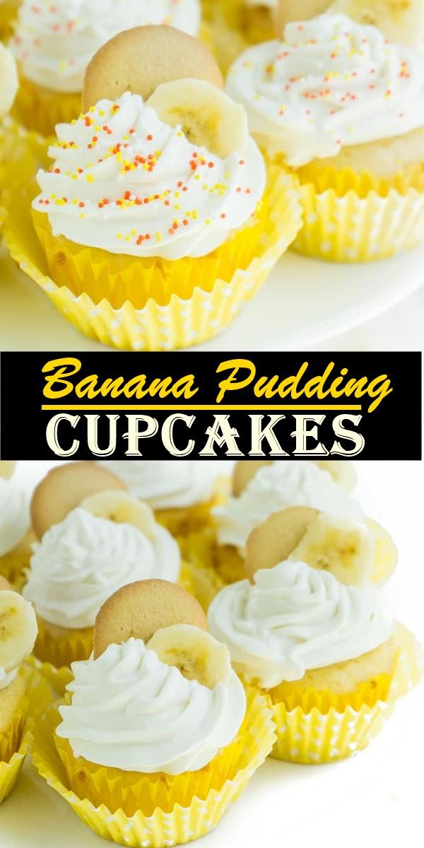 Banana Pudding Cupcakes #cupcakerecipes