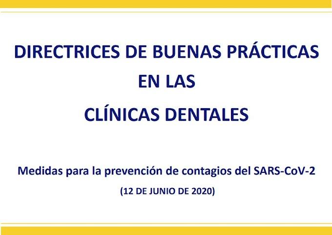 PDF: Directrices de buenas prácticas en las Clínicas Dentales