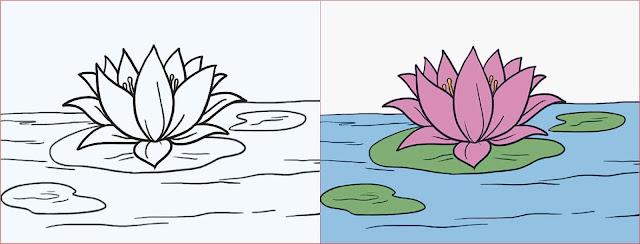 sketsa-bunga-teratai
