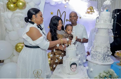 Regina Daniels son birthday celebration