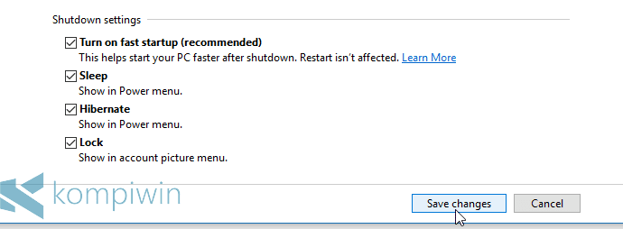 aktifkan hibernate di windows 10