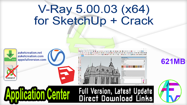 V-Ray 5.00.03 (x64) for SketchUp + Crack