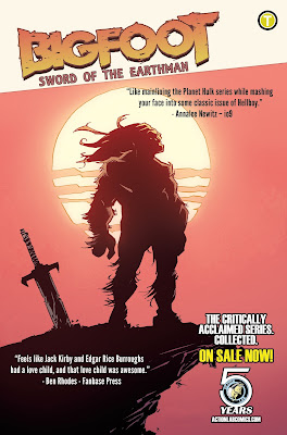 bigfoot sword of the earthman trade paperback bigfoot comic action lab comics bigfoot graphic novel barbarian comic