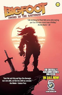 bigfoot sword of the earthman trade paperback bigfoot comic action lab comics bigfoot graphic novel barbarian comic