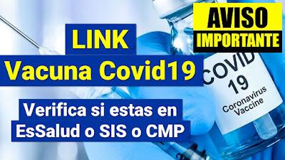 LINK fechas de vacunacion actualizacion y registro contra Covid19