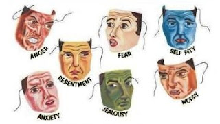 Various emotions like anger, fear, resentment, self pity, jealousy, anxiety, worry