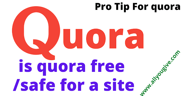 Is quora Safe for a Site