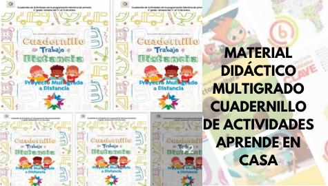 Aprende en Casa SEP - Material Didáctico Multigrado - Cuadernillo de Actividades de Aprende en Casa SEP