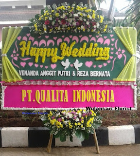 Bunga Papan Happy Wedding (ws-153)