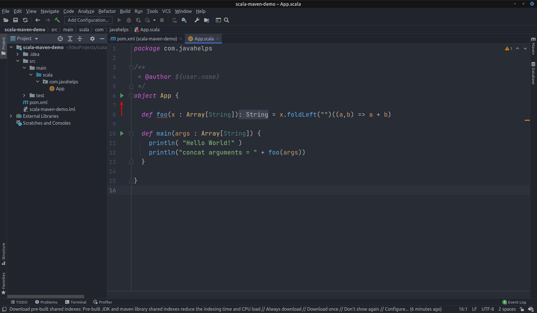 Create Scala with Maven Project in IntelliJ Idea
