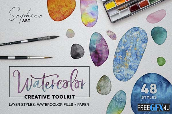 Watercolor Layer Effects Paper Texture