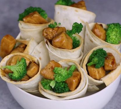Teriyaki Chicken Cones