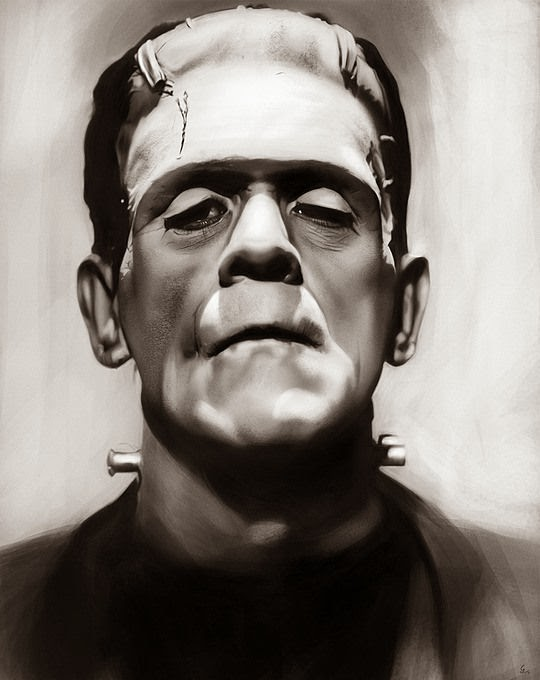 Arte hiperrealista y retoque digital  Frankenstein