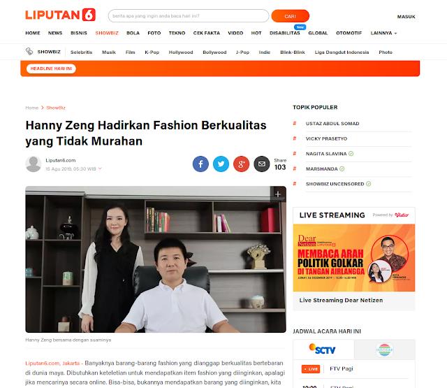 Hanny Zng Hadirkan Fashion Berkualitas yang Tidak Murahan