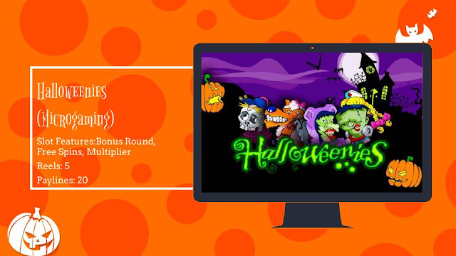 Halloweenies free slot by Microgaming
