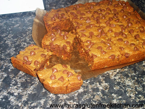 Gluten Free Peanut Butter Blondies