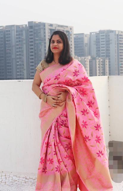 Manjubaa Banarasi Silk Saree