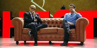 Cesar Bona y Ristro sentados en el Chester de hoy