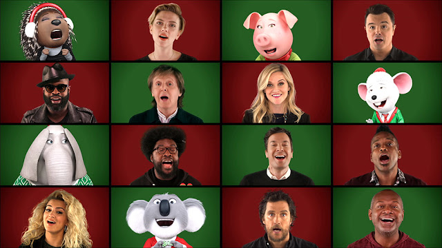 "Video:  Jimmy Fallon, Paul McCartney y el reparto de ""Sing"" - ""Wonderful Christmastime"""