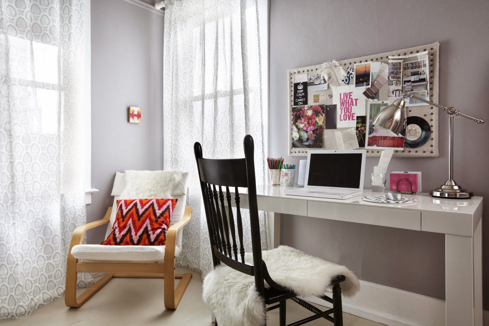lovely modern home office design | A 100 Year Old House Project Combining Modern Furnishings ...