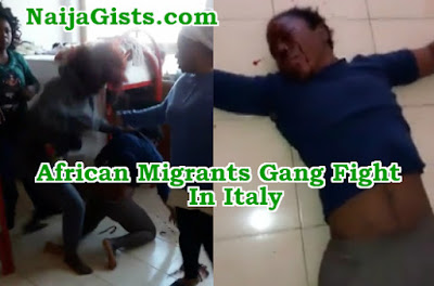 african migrants gang fight italy refugee camp