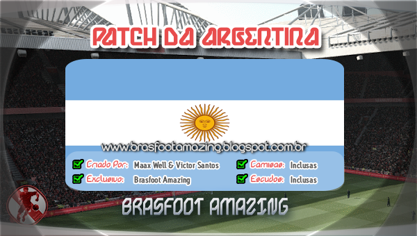 2012 ARGENTINA BAIXAR PATCHES BRASFOOT
