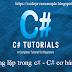 Vòng lặp trong c# - C# cơ bản