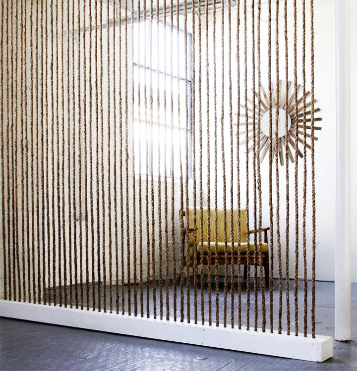 Rope wall; room divider