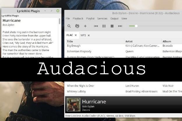 Audacious - Ανοικτού κώδικα πρόγραμμα αναπαραγωγής μουσικής