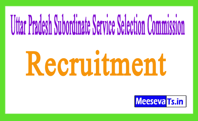 Uttar Pradesh Subordinate Service Selection Commission UPSSSC Recruitment Notification