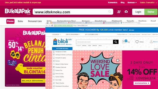 Perbandingan Belanja Online di Bukalapak.com dan Blibli.com