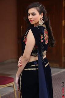 Priyanka Ramana in Beautiful Designer Black Saree At We Craft Elegance Expo Launch 047.JPG