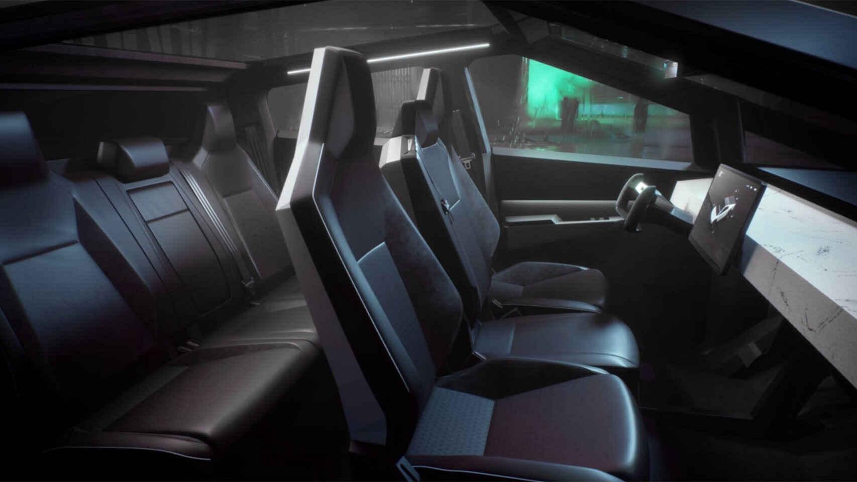 Interior Tesla Cybertruck