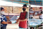 Salurkan Masker, Pemdes Tangkunei Himbau Warga Patuhi Prokes