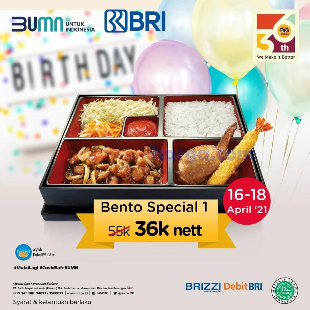 HOKBEN Promo Paket Bento Special 1 hanya 36 Ribu nett dengan Debit BRI & BRIZZI
