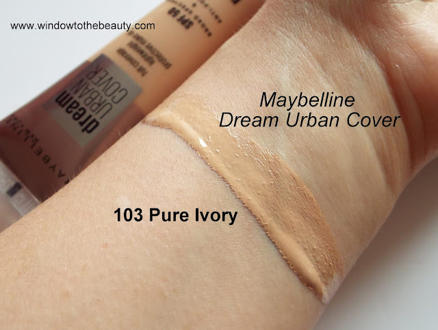 Maybelline Dream Urban Cover 103 Pure Ivory swatches