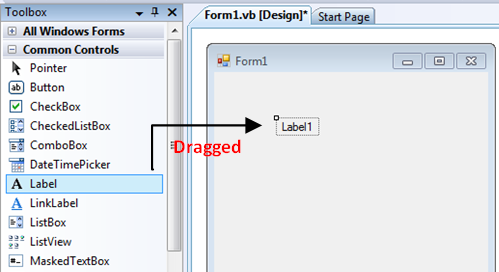 Adding a Tool item into VB C# form