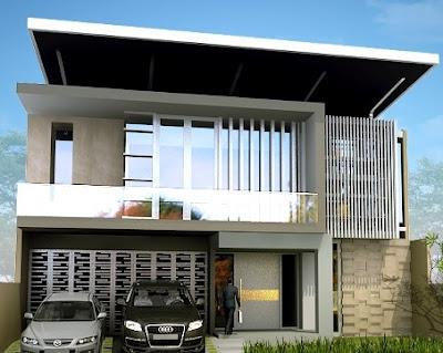 model atap datar rumah modern minimalis