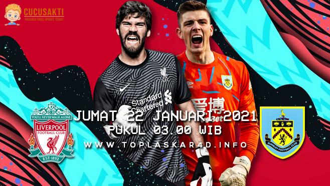 Prediksi Bola Liverpool vs Burnley Jumat 22 Januari 2021