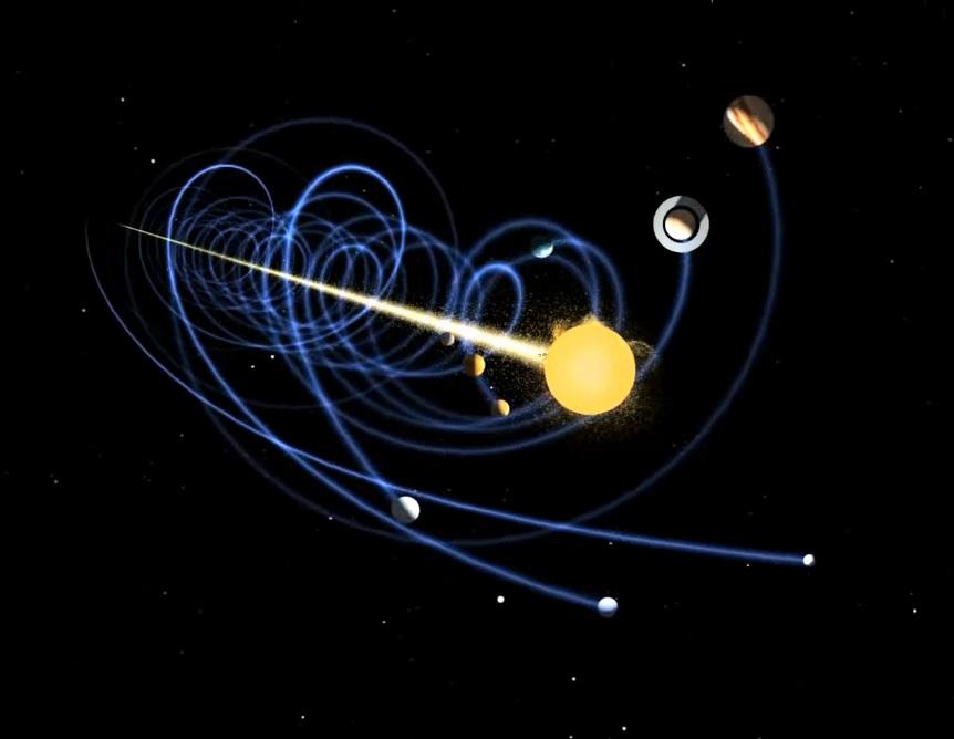 sistema solar viajando universo